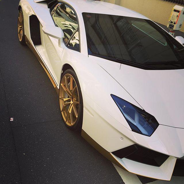 White & Gold#cizetaphoto #lanborghini  #aventador #aventadormiura #aventadormiurahomage